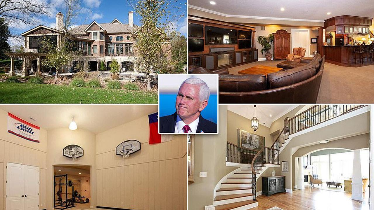 Inside Mike Pence's $1.9M Indiana mansion that boasts a handcrafted bar and a basketball court in one of the Midwest's wealthiest areas