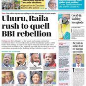 BBI Rebellion To Be Quelled By Raila Odinga and Uhuru Kenyatta