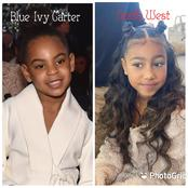 Between Kim Kardashian's daughter and Beyonce's daughter, who is more beautiful?(see pictures)
