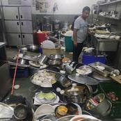 This is what a customer caught in Restaurant kitchen that caused reactions