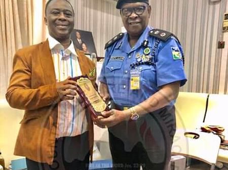 See The Award That Dr. D. K. Olukoya Just Recieved From the Assistant Inspector General of Police.