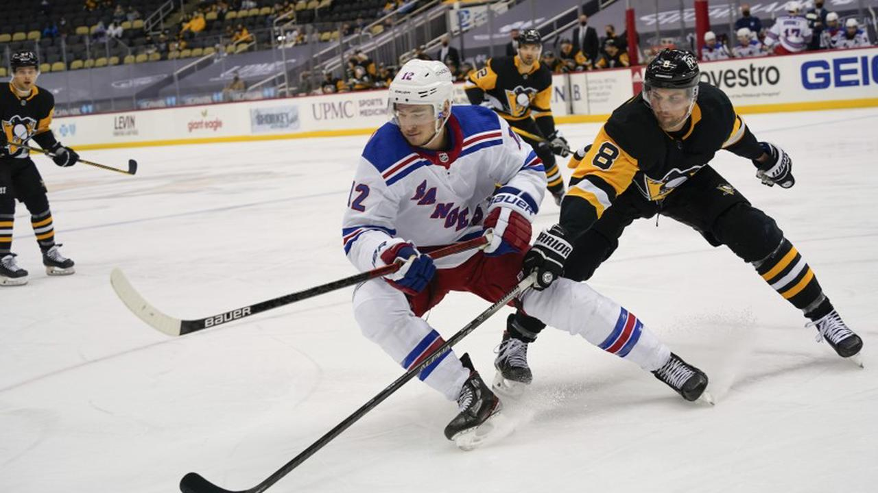 Crosby caps first-period outburst, Pens defeat Rangers 5-1