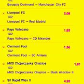 Today's Special Matches To Bank on and Earn Huge Cash With GG & Correct Score (CS) Tips
