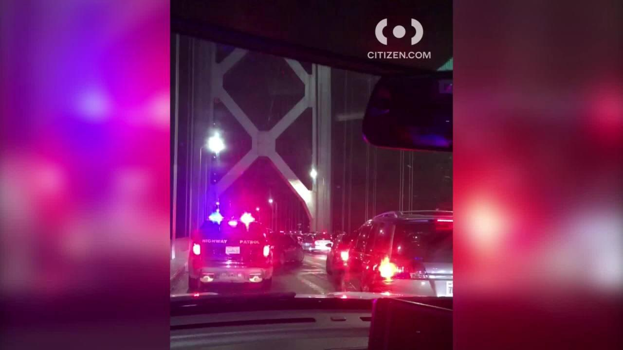 2nd Street Bridge blocked after multi-vehicle crash