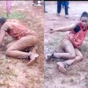 WATCH VIDEO Of What Happened To this Lady After She Used Her Promo Money To Buy Alcohol To Drink