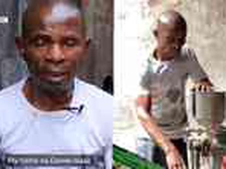 After his wife abandoned him, See how much Nigerians donated to this blind man who grinds food