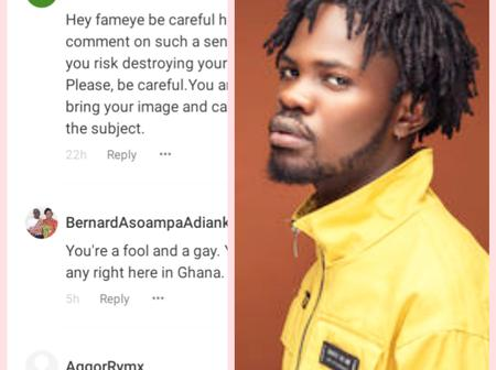 Fameye in trouble as Ghanaians heavily descend on him for supporting LGBT rights in Ghana