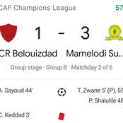 Themba Zwane and Shalulile scored as Sundowns leads 3-1 in Ongoing CAF fixture.