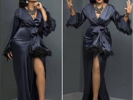 Checkout Beautiful Actress Omotola Jalade Black Long Gown Style, That Shows She Is A Fashion Queen