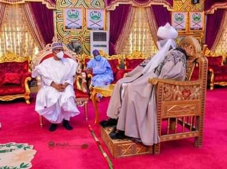 Photos: Aliko Dangote Visits Emir of Kano