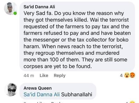 Some corpses are yet to be found - man speaks out over farmers massacre in Borno State.
