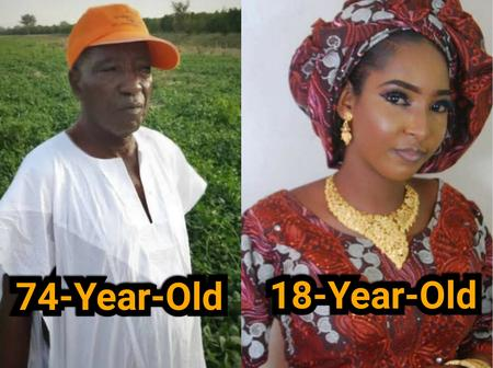 Mixed Reactions As 74 Years Old Nigerian Minister Weds An 18-Year-Old Girl In A Secret Wedding