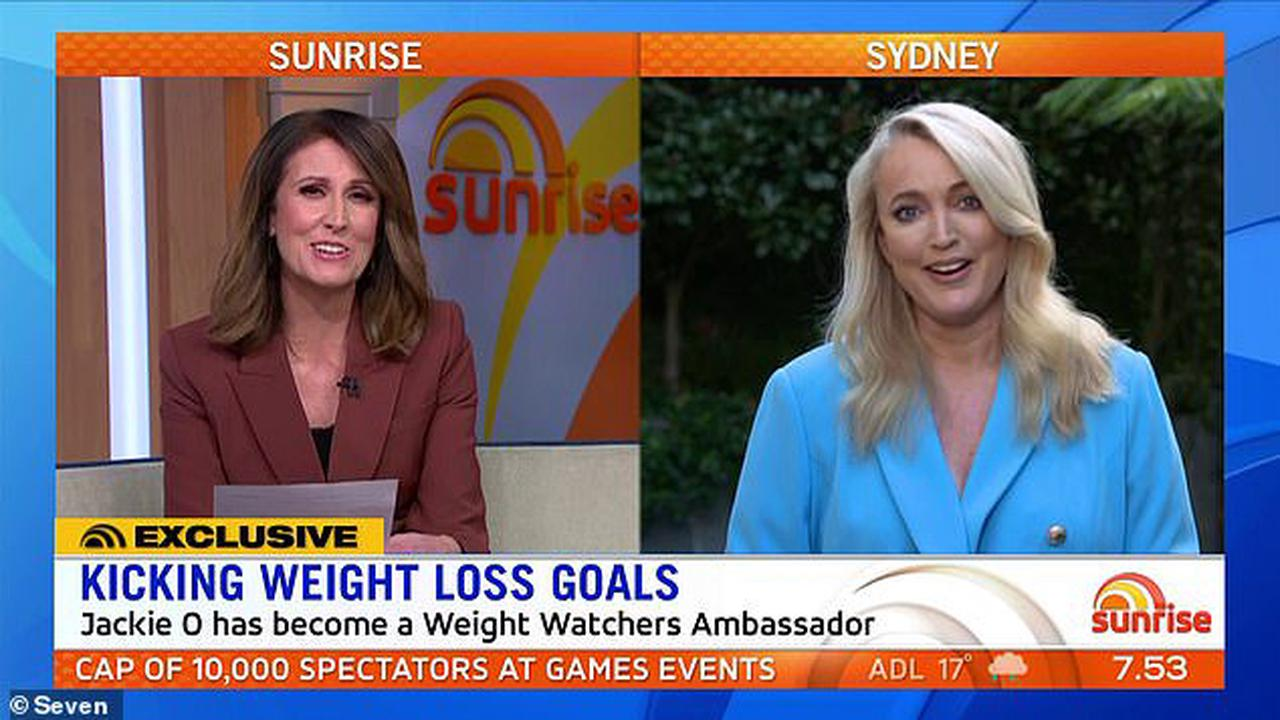 'Can you convince Kyle to join in?' Sunrise's Natalie Barr asks Jackie O a VERY cheeky question as the radio star becomes an ambassador for Weight Watchers and vows to lose 10kg
