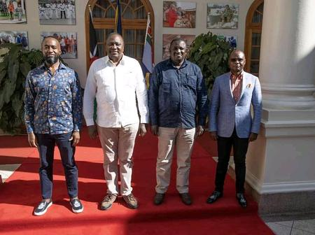 President Uhuru's Meeting With Hassan Joho, Amason Kingi and Salim Mvurya Raises Eyebrows