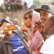 Reactions After TBT Photos Of Karen Nyamu Smoking Cigarette And Chewing Miraa In Public Resurface