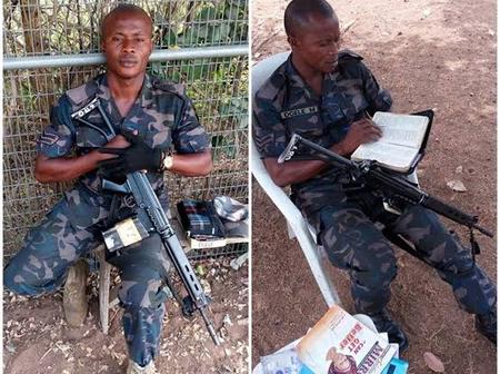 Photos of soldiers reading Bible on the battlefield