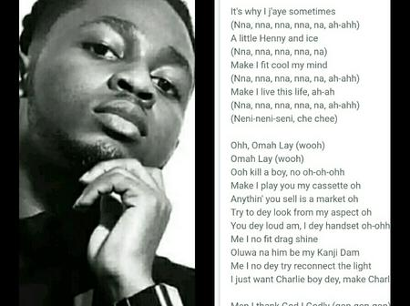 Is Omah Lay now becoming a Gospel artist?, Checkout lyrics of his new Gospel song