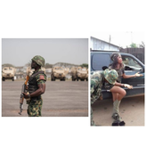 Check out these 2 moments civilians were disciplined by Nigerian soldiers for wearing camouflage uniforms