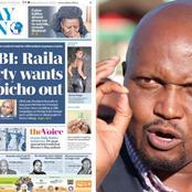 DP's Ally Kuria Reacts to Sunday Nation Newspaper's Headline,