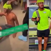 Suspected yahoo boy cries out while running naked yelling