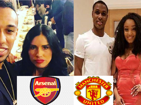 Arsenal Aubameyang's wife VS Manchester United Odion Ighalo's wife, who is more beautiful? [Photos]