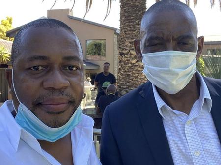 Mzwandile Masina Refuses To Answer About This Photo He Posted With Ace Magashule