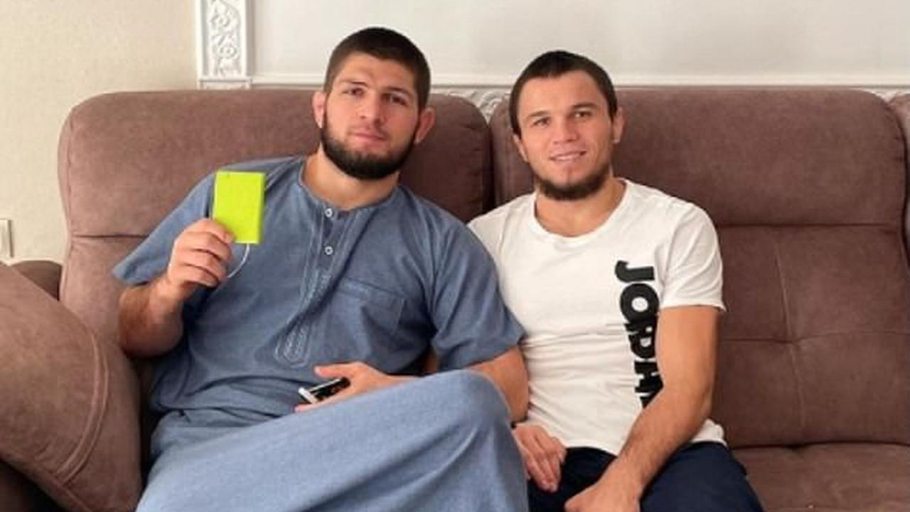 Khabib Nurmagomedov reveals his cousin Umar is set to make his UFC debut on 'Fight Island' next month... and promises'I will fight with him myself' to train his man for the big day