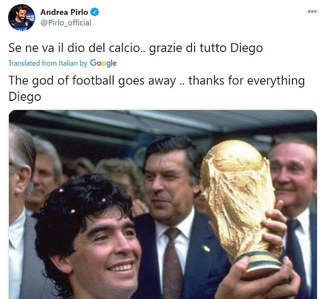 Football world in mourning after the death of Argentina legend, Diego Maradona