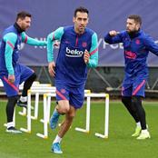 Barca players undergo final training ahead of PSG's match (See photos)