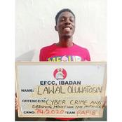 Yahoo boy smiles after he bags 3-months jail terms over a $50 cyber fraud in Ibadan (See reactions)