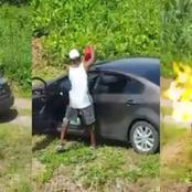 Man burns Himself Alive In His Car After A Heated Quarrel