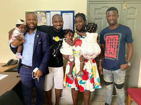 The public showers praise on Kwaku Manu for reuniting Funny Face with his kids and wife - Photos