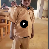 Smart Boy, See The Number Of Shirts He Wore To School Because Of His Teacher's Cane - Photos