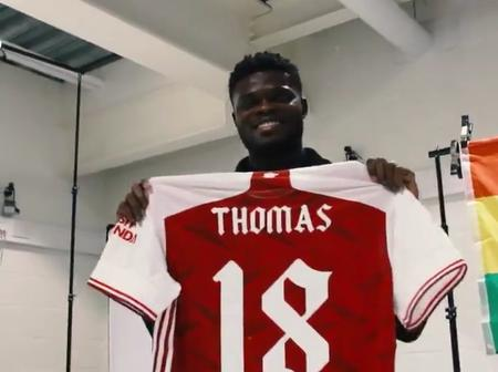 Finally, Thomas Partey Arrives At Arsenal After A Successful Transfer (See Photos)