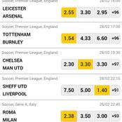 Win Big This Sunday 28th By Placing The Following Well Analyzed Matches.