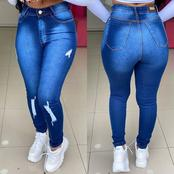 Forget Ankara, Ladies Check Out These Trending Jeans Trousers You Should Add To Your Wardrobe