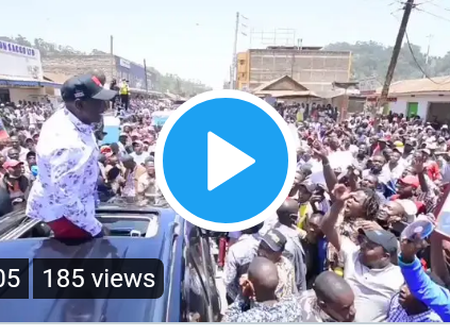 Dp Ruto Welcomed Warmly in Igembe North Constituency