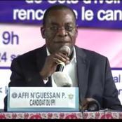 Affi N'guessan défend sa candidature et dit non à Bédié, Ouattara et Gbagbo, voici enfin sa vérité