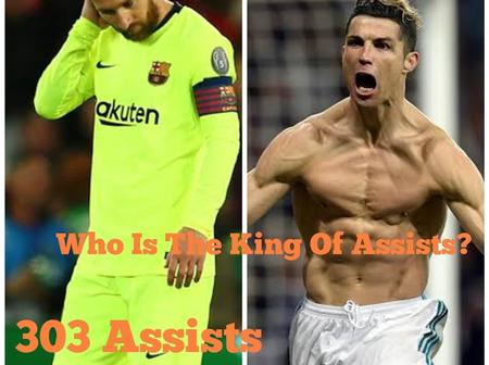 Messi Has 303 Assists, Checkout The Number Of Assists That Cristiano Ronaldo Has