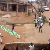 Nigerians Will Never Change, Two Schools Fighting Over A Girl With Cutlasses