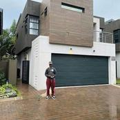 The rapper Emtee made tongues flutter again after he posed in front of a beautiful mansion.