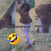 Hilarious moment a lady ends up in a dirty gutter while posing for a picture.[see]