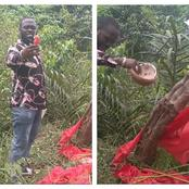 After Pastor Chima Destroyed The Shrine Of A Witch Doctor, See What He Found In A Pot (Video)
