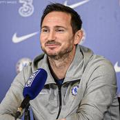 Frank Lampard reacts after Chelsea booked their place in the UCL Round of 16 after beating Rennes