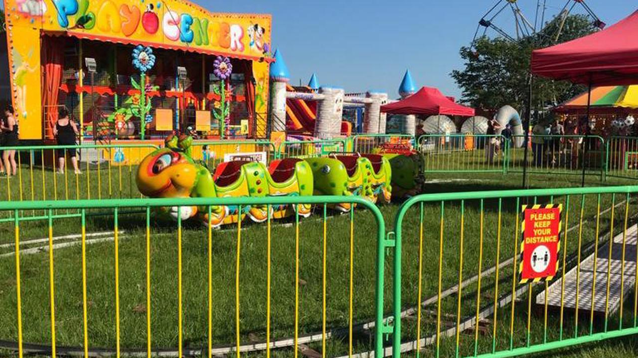 Toddler airlifted to hospital after he was RUN OVER by caterpillar ride and left 'covered in blood'