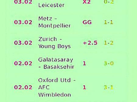 Bank On Six (6) Of VIP Bets With GG, Correct Score (CS) that You are Assured of Winning This Monday
