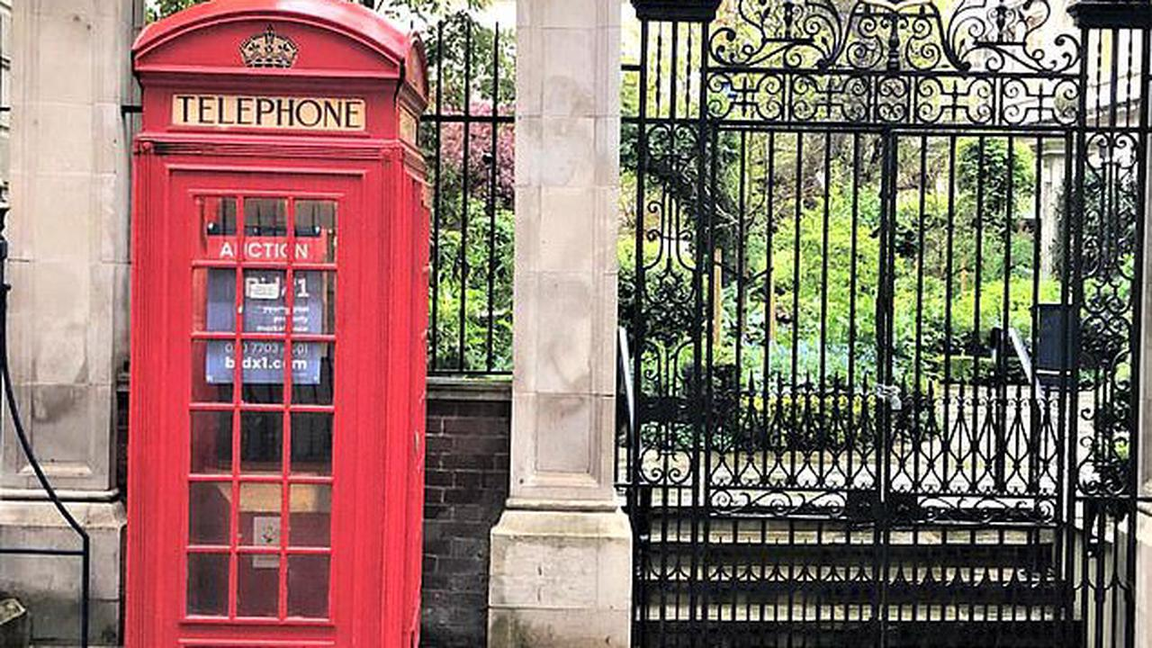 Red London telephone box goes on the market with a guide price of £45,000
