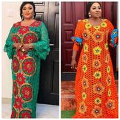 Ankara fabrics and lace combination gown