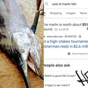 The Man Who Caught A Strange Fish In Warri, See The Amount Of Money He Could Have Made If He Sold It