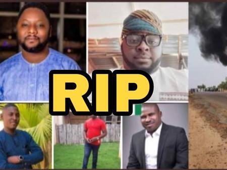 Sad: See Photos Of 5 Handsome Men Who Were Burnt To Death On Their Way To Their Friend's Ceremony